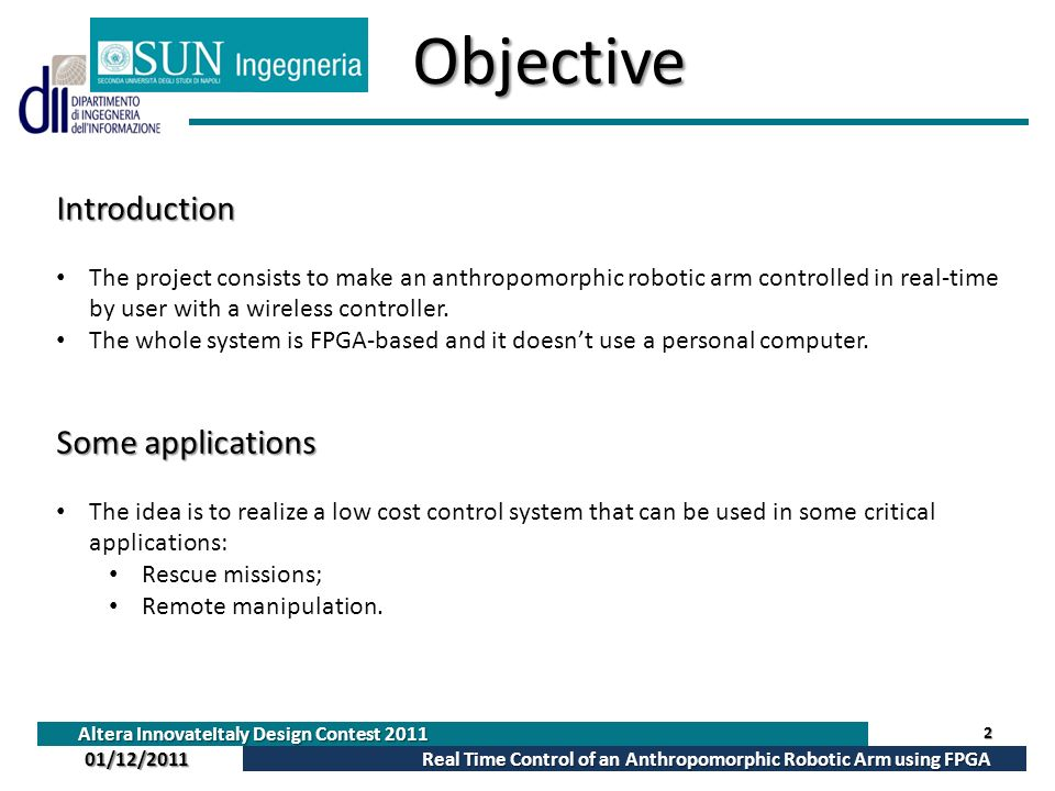 Objective Introduction Some applications
