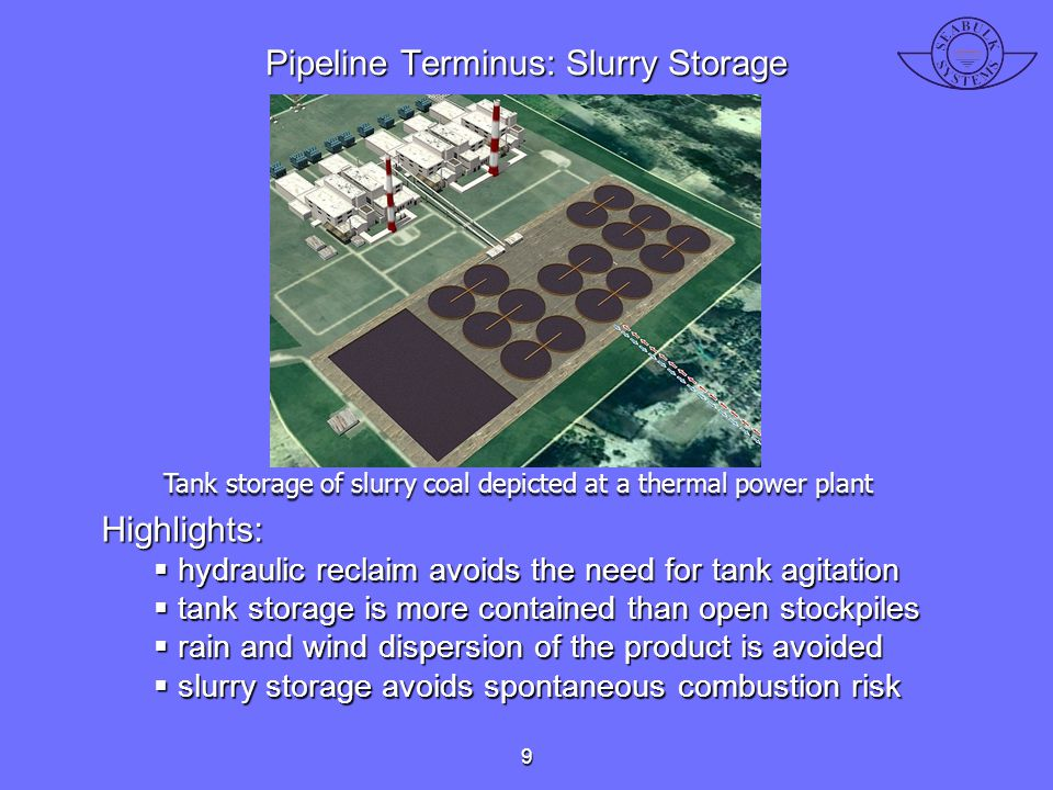 Pipeline Terminus: Slurry Storage