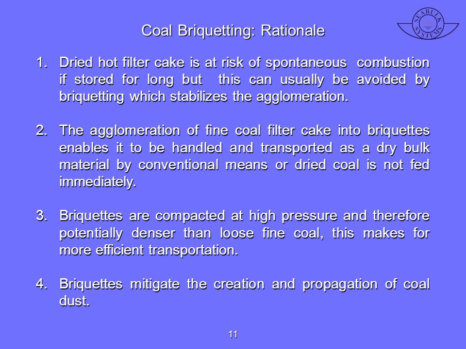 Coal Briquetting: Rationale