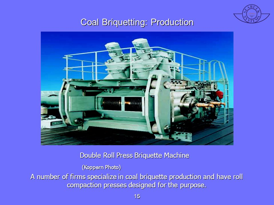 Coal Briquetting: Production