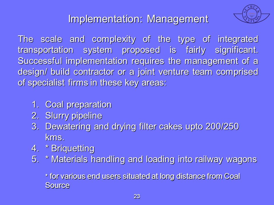 Implementation: Management