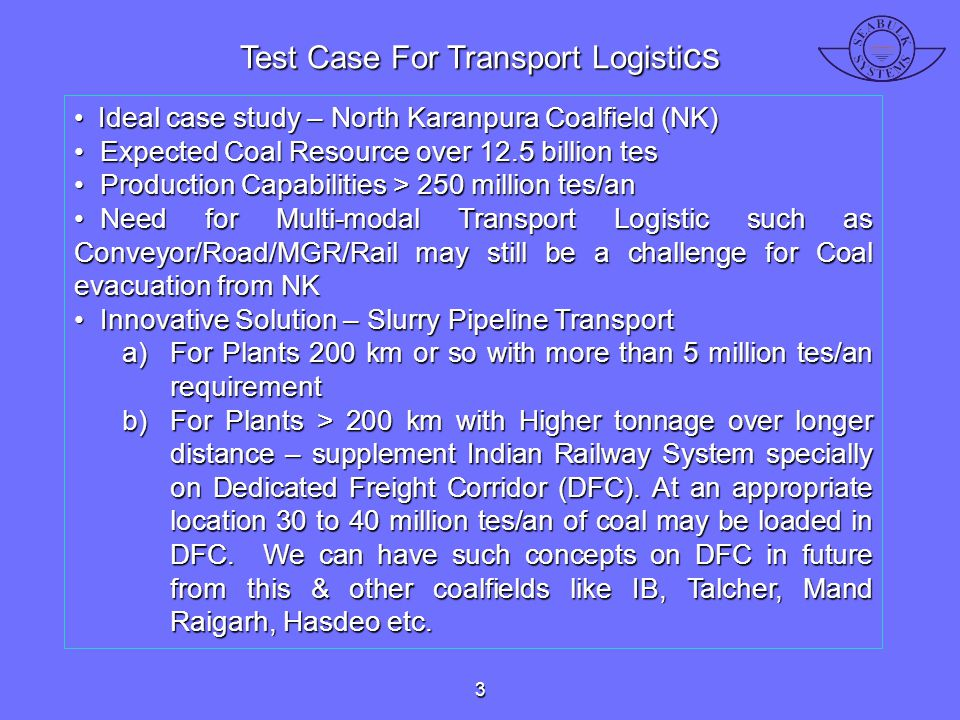 Test Case For Transport Logistics
