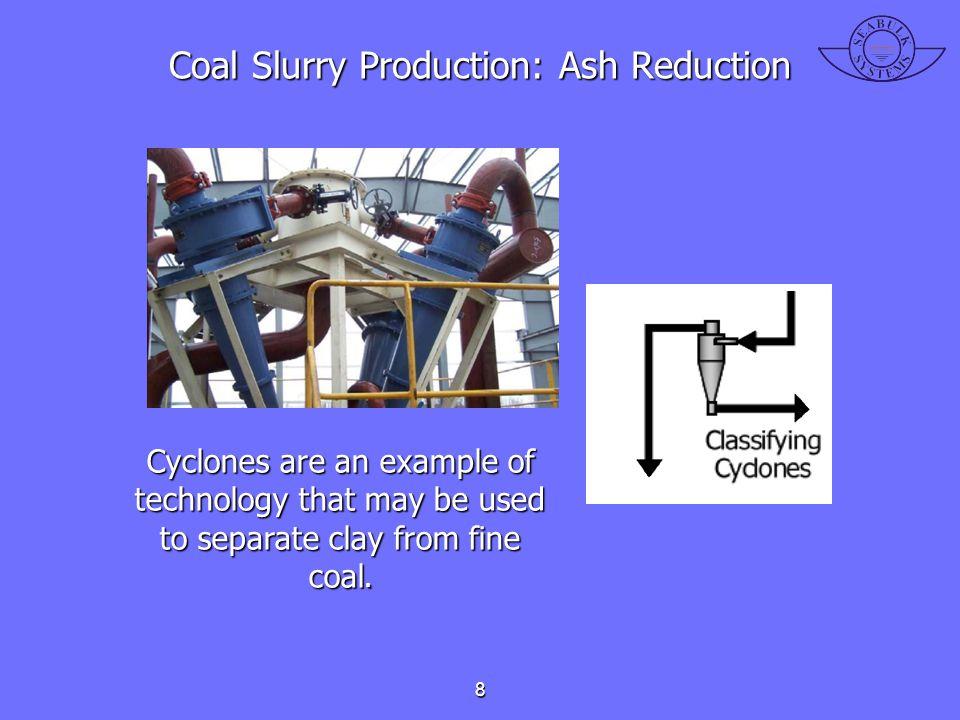 Coal Slurry Production: Ash Reduction
