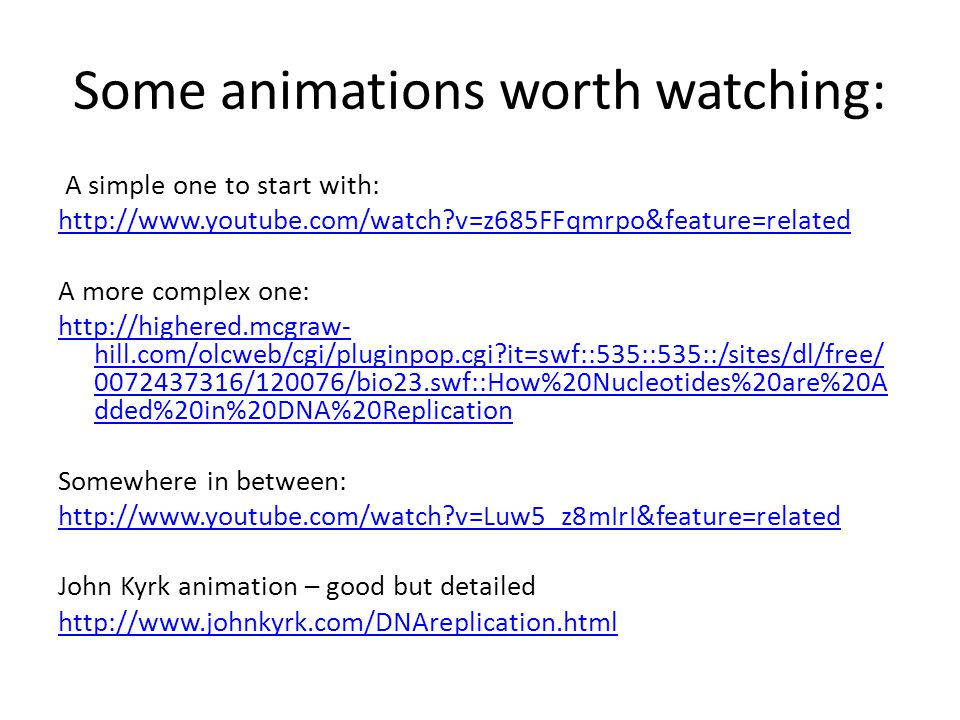 Some animations worth watching: