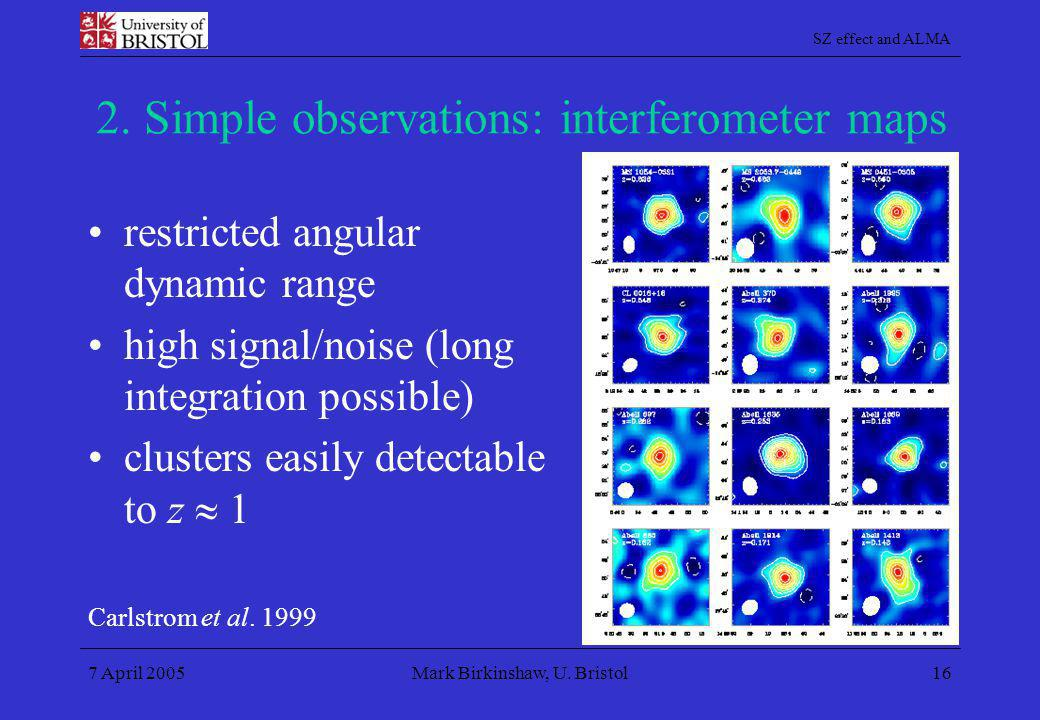 2. Simple observations: interferometer maps