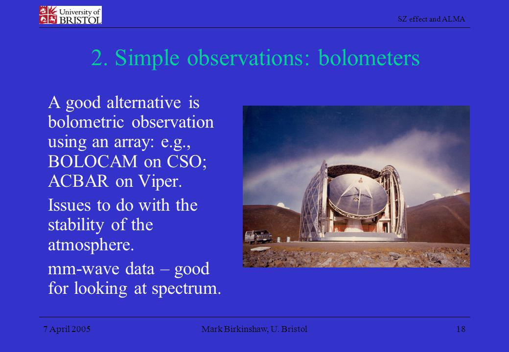 2. Simple observations: bolometers