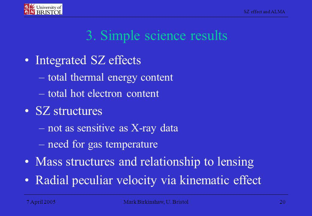 3. Simple science results