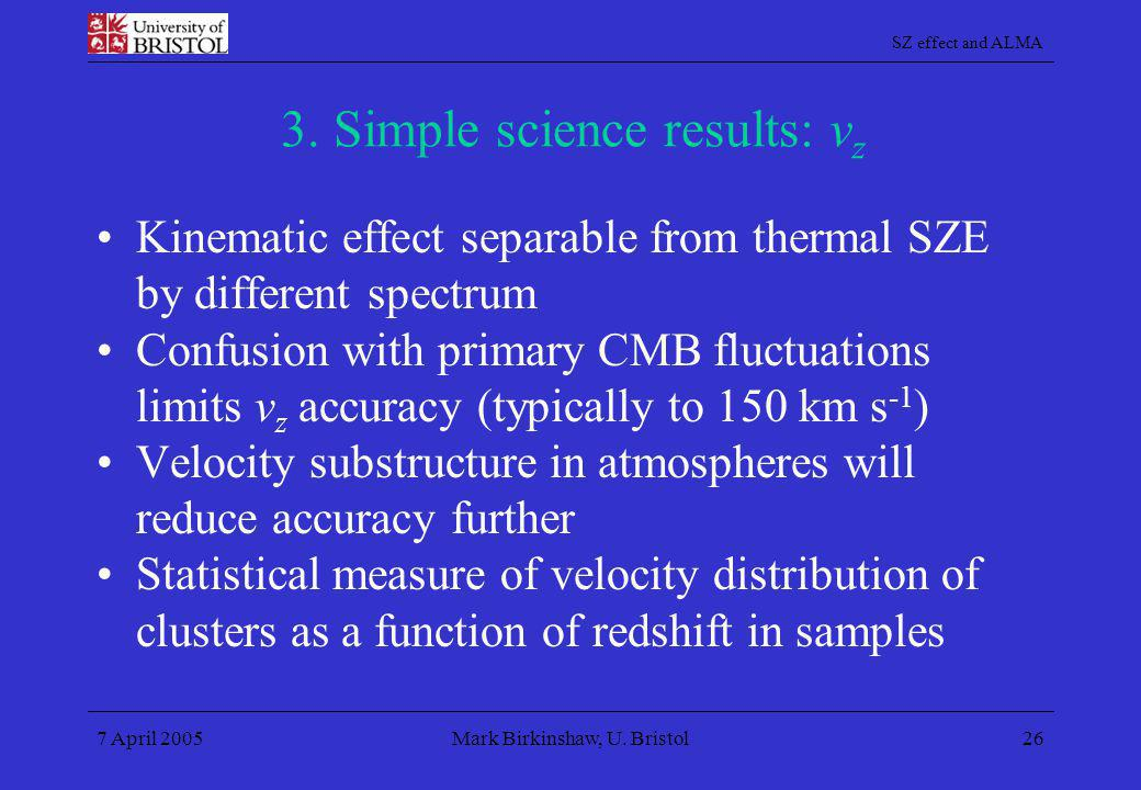 3. Simple science results: vz