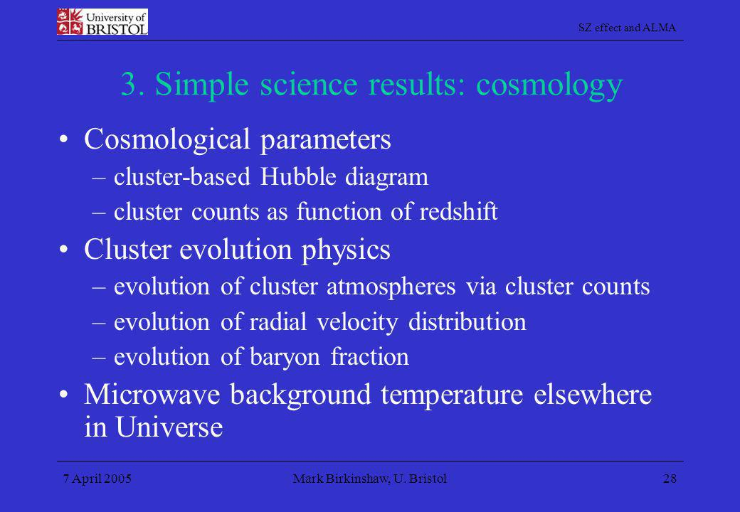 3. Simple science results: cosmology