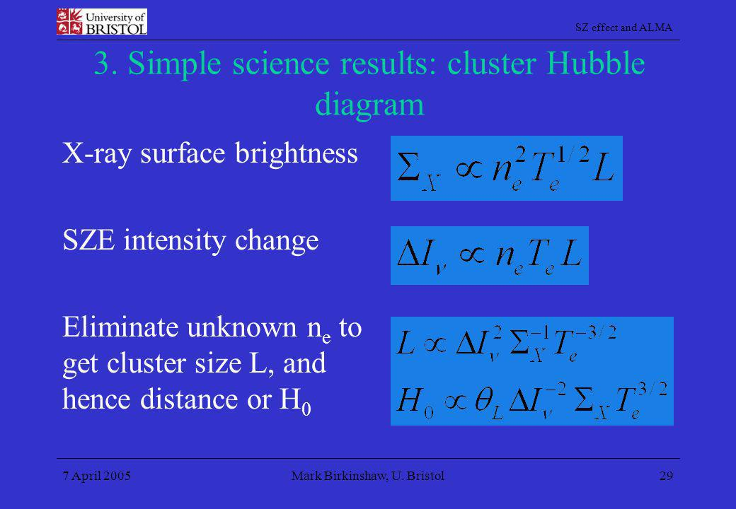 3. Simple science results: cluster Hubble diagram