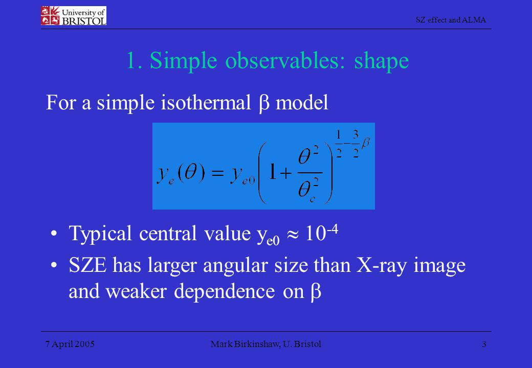 1. Simple observables: shape