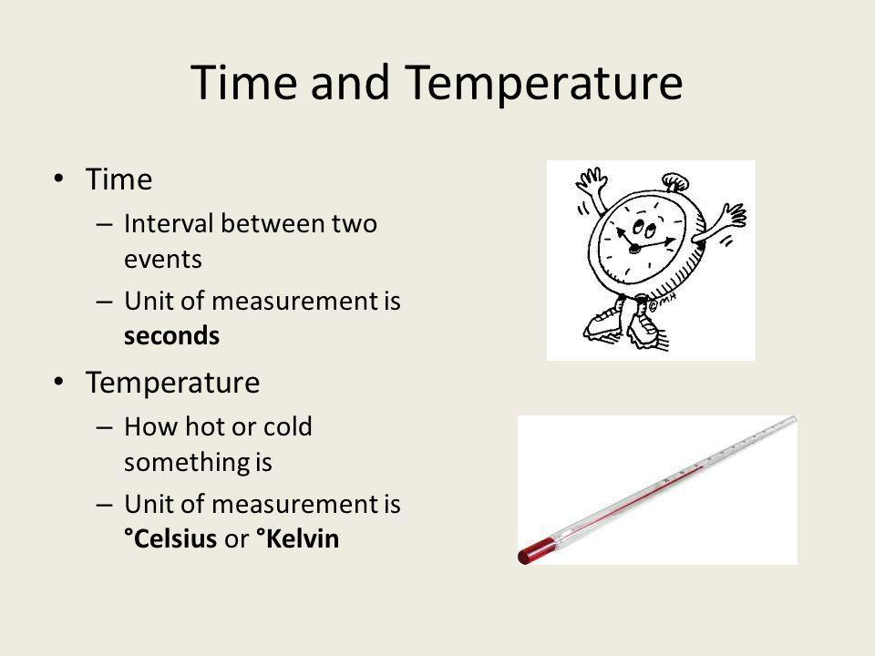 Time and Temperature Time Temperature Interval between two events