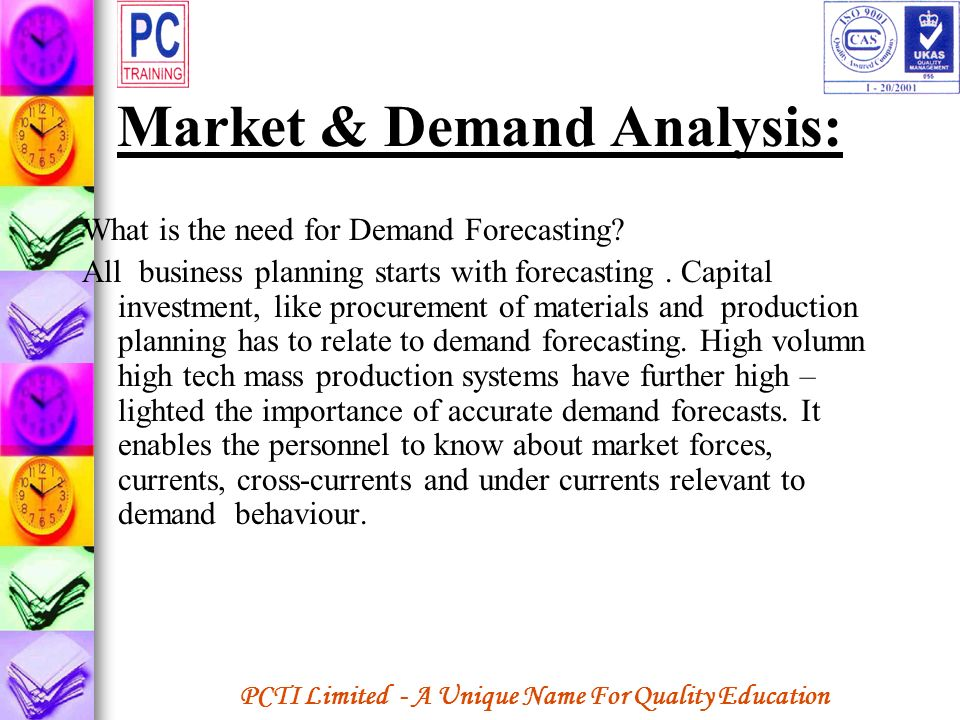 Market & Demand Analysis: