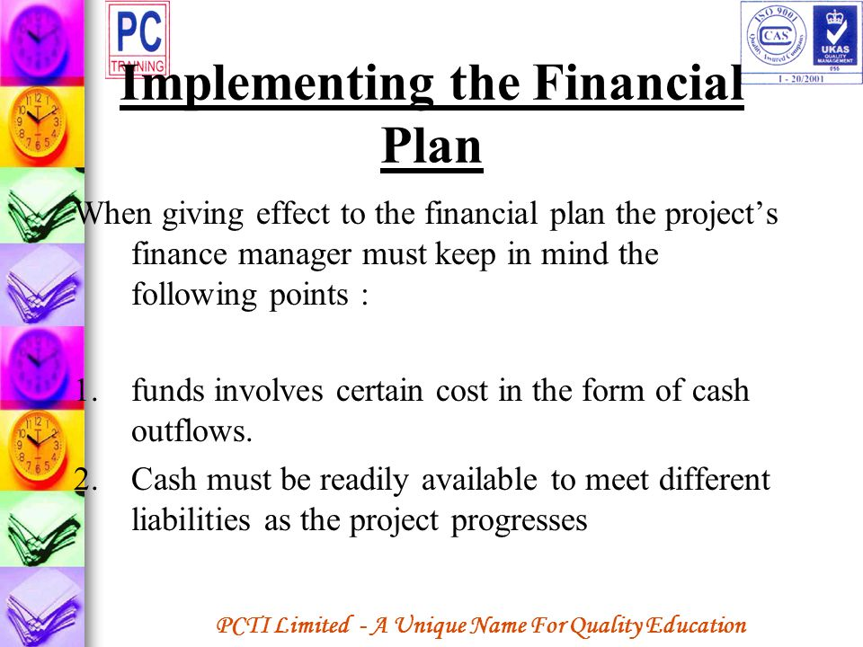 Implementing the Financial Plan