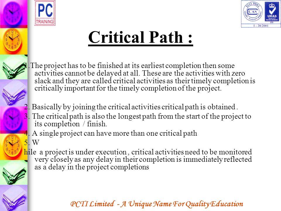 Critical Path :