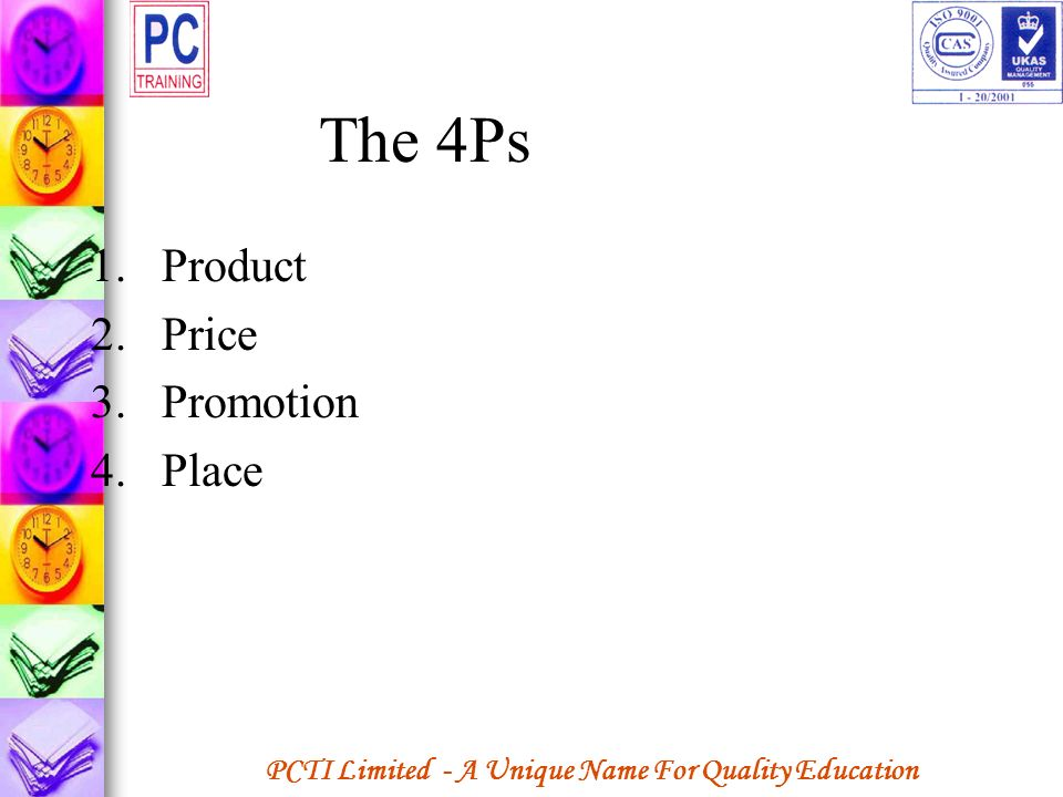 The 4Ps Product Price Promotion Place