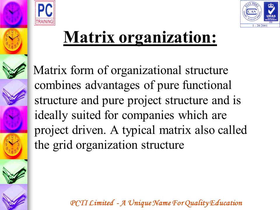 Matrix organization: