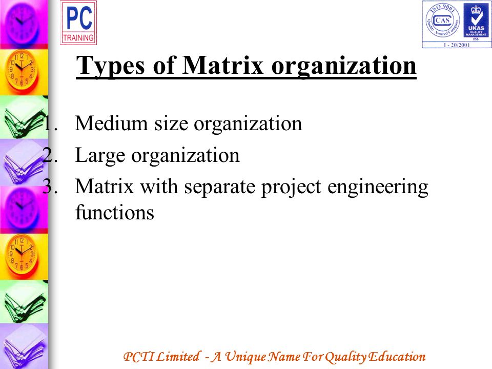 Types of Matrix organization