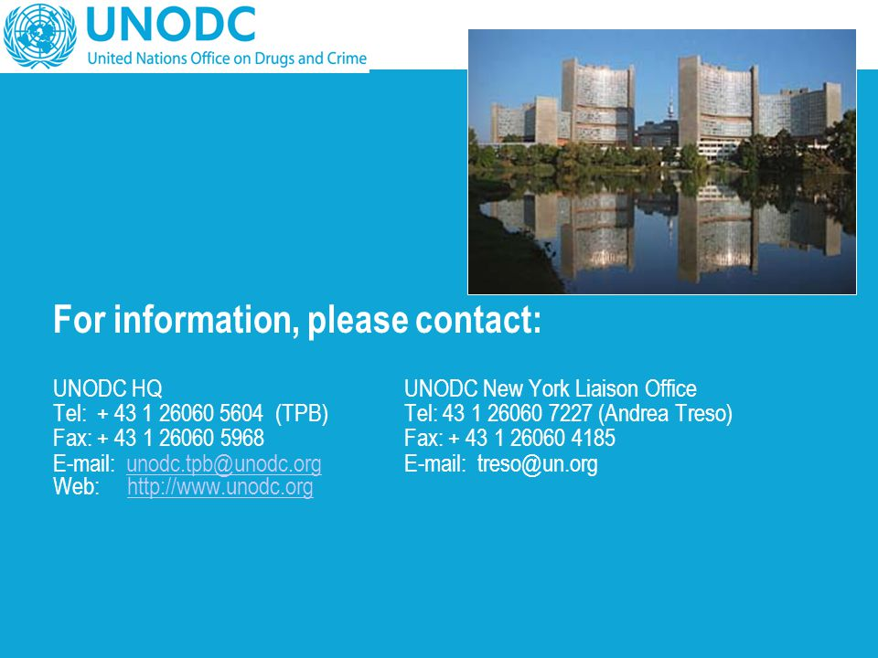 For information, please contact: