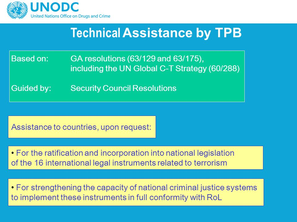 Technical Assistance by TPB
