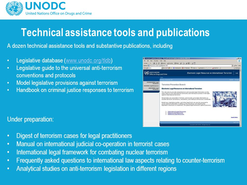 Technical assistance tools and publications