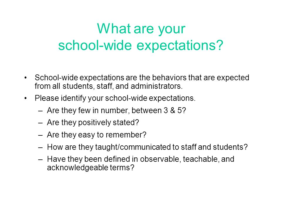 What are your school-wide expectations