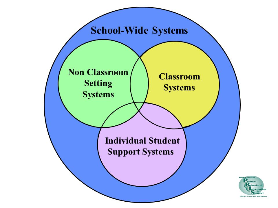 School-Wide Systems Non Classroom Classroom Setting Systems