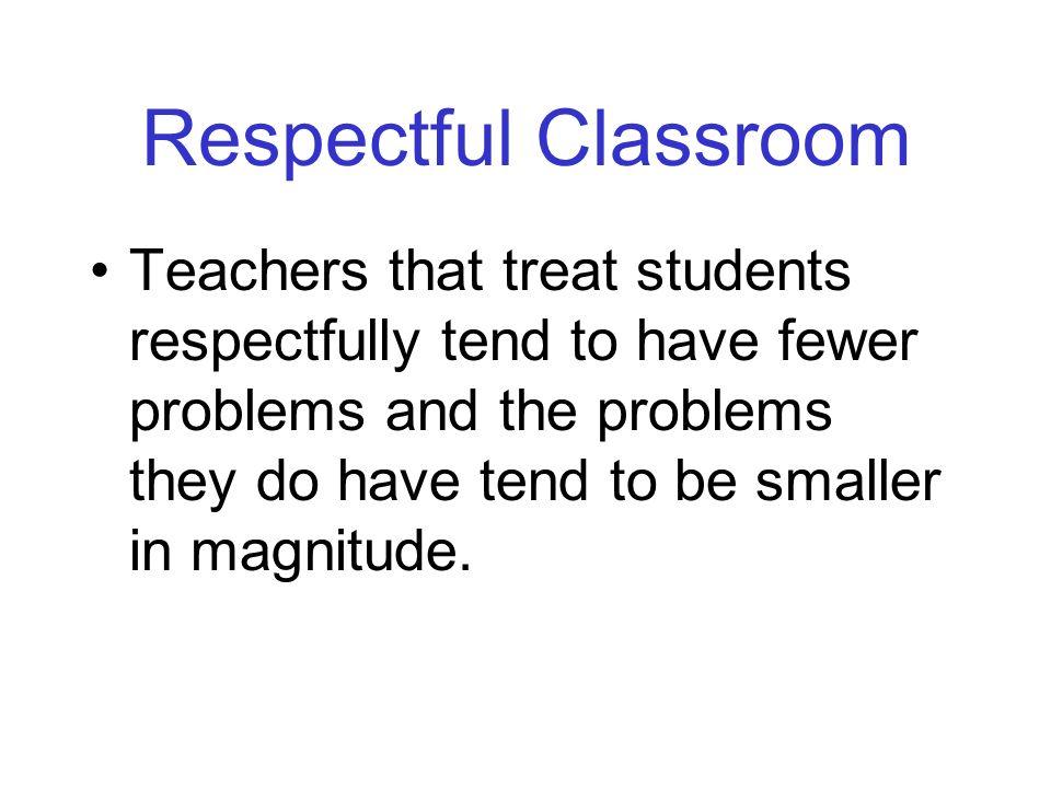 Respectful Classroom