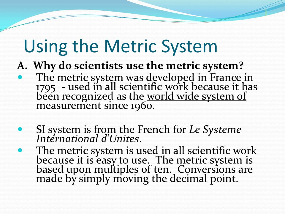 the united states and the metric system essay Metric system essay below is an essay on metric system from anti essays  i think that the united states should continue to use the imperial system of.