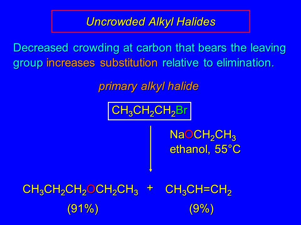 Uncrowded Alkyl Halides