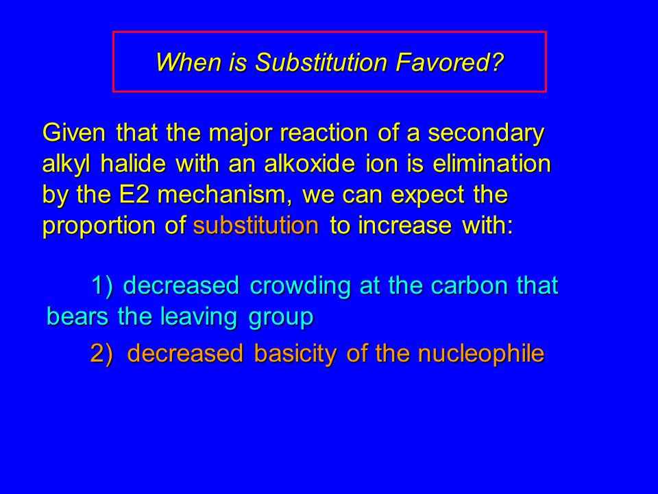 When is Substitution Favored