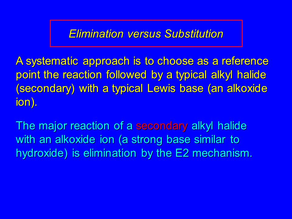 Elimination versus Substitution