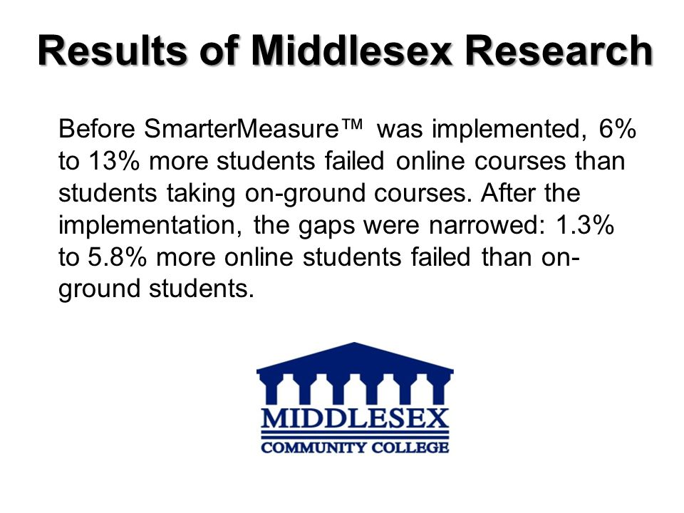 Results of Middlesex Research
