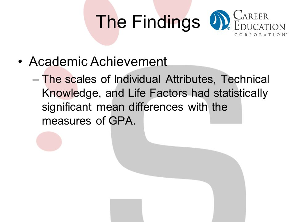 The Findings Academic Achievement