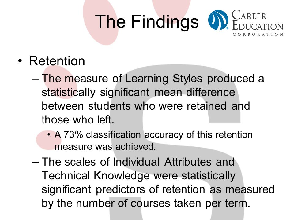 The Findings Retention