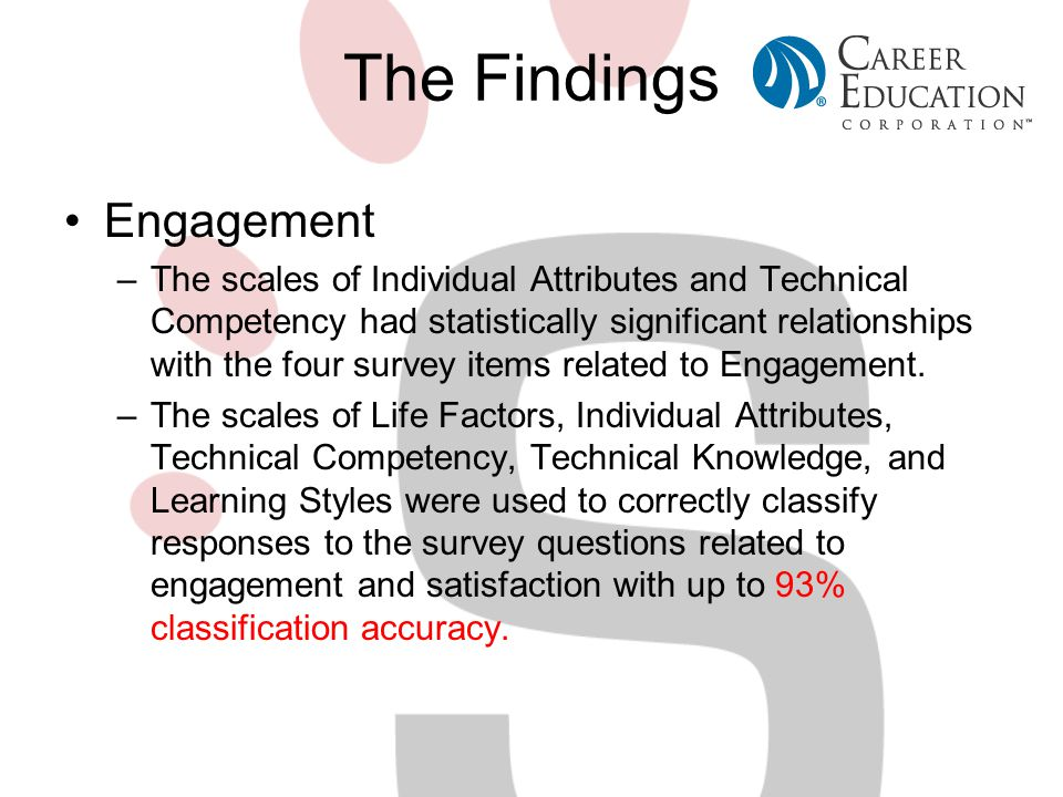The Findings Engagement