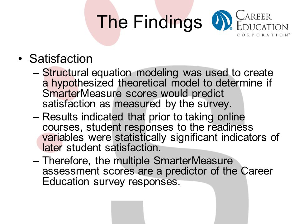 The Findings Satisfaction