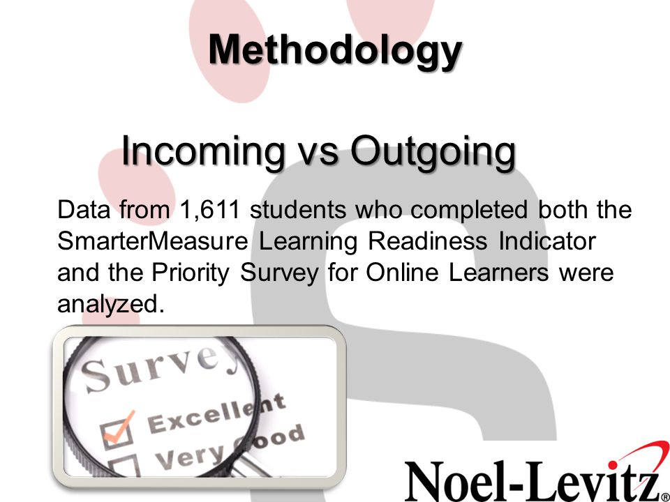 Methodology Incoming vs Outgoing