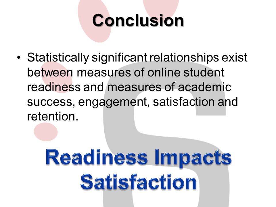 Readiness Impacts Satisfaction