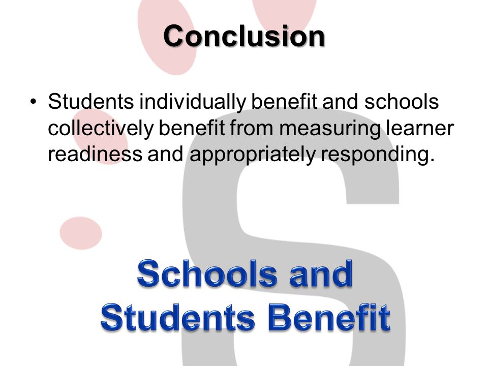 Schools and Students Benefit