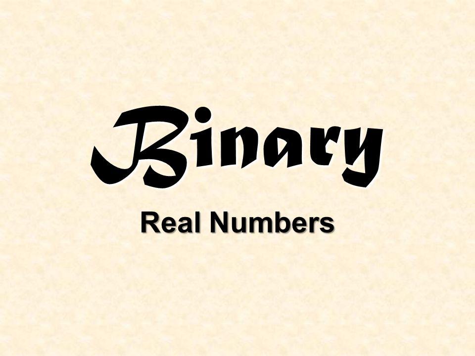 Binary Real Numbers