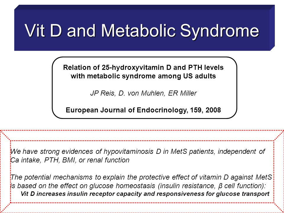 Vit D and Metabolic Syndrome