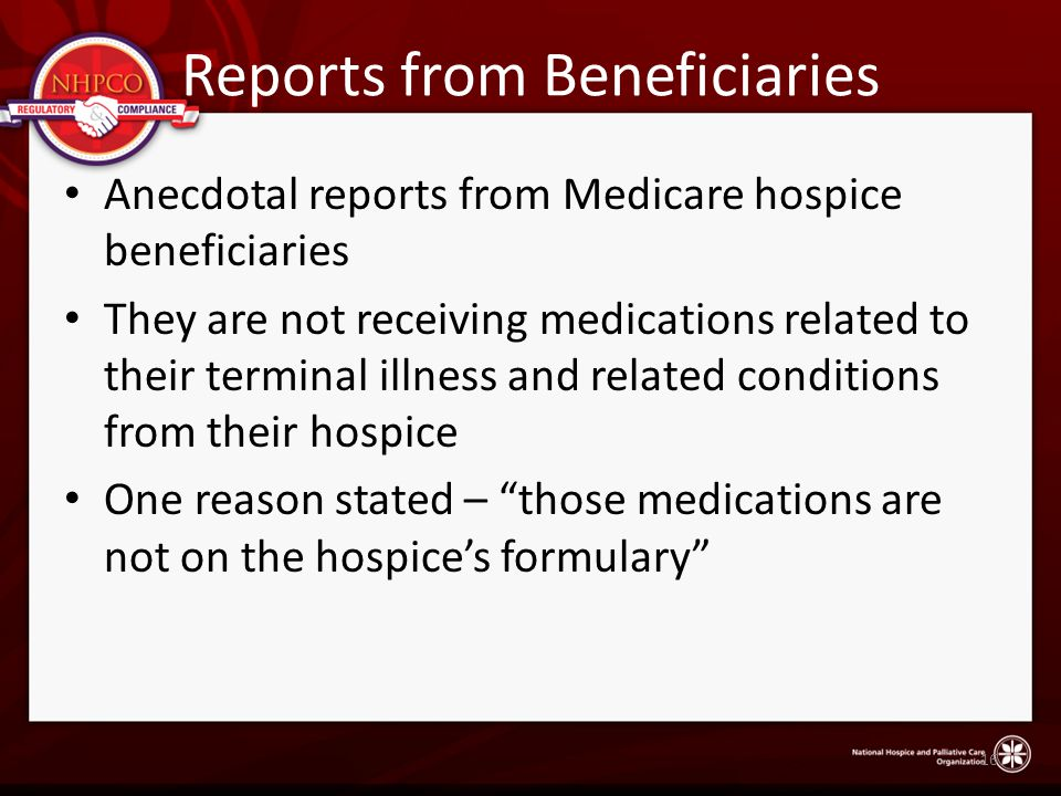 Reports from Beneficiaries