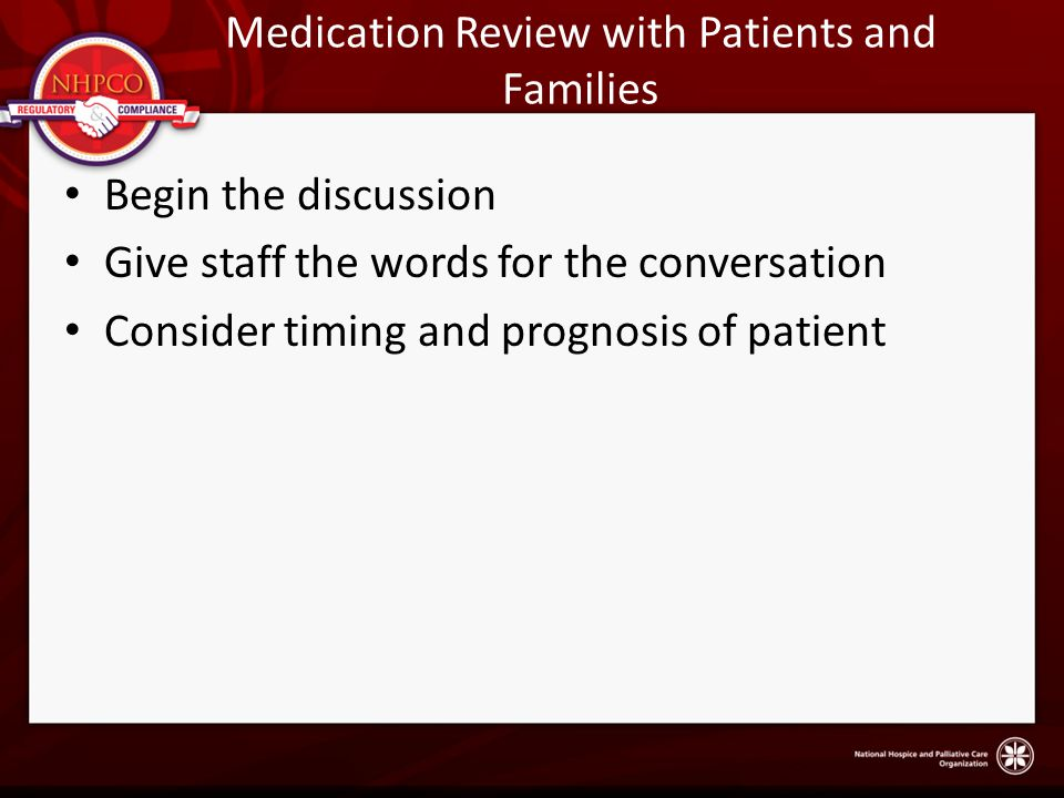 Medication Review with Patients and Families