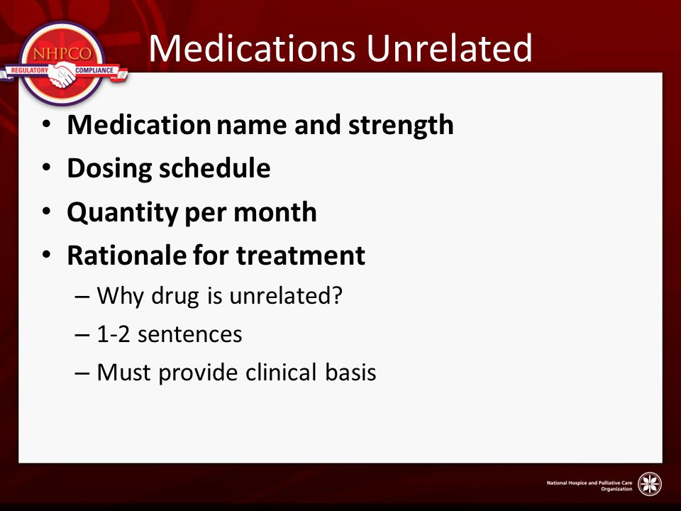 Medications Unrelated