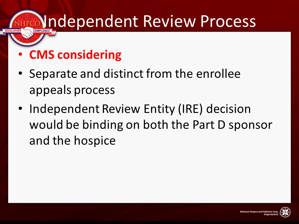 Independent Review Process