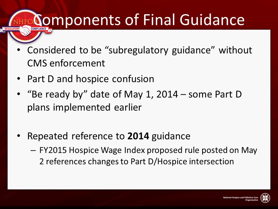 Components of Final Guidance