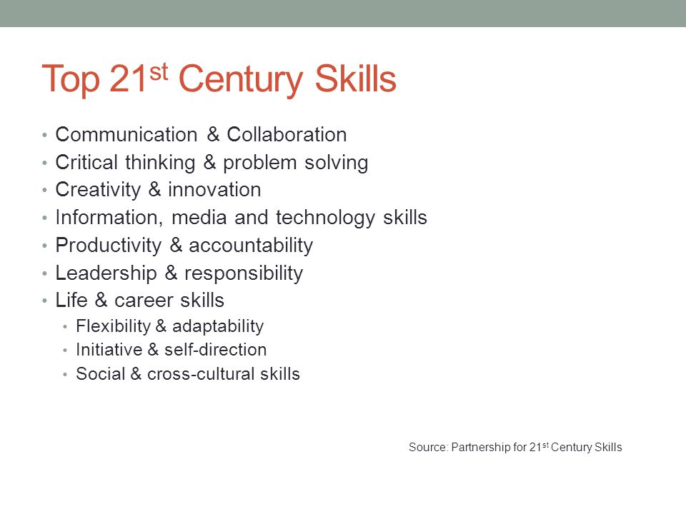 Source: Partnership for 21st Century Skills