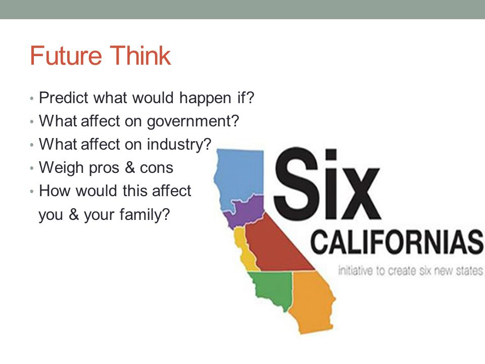 Future Think Predict what would happen if What affect on government