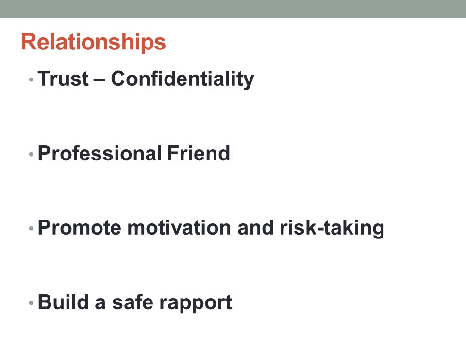 Relationships Trust – Confidentiality Professional Friend